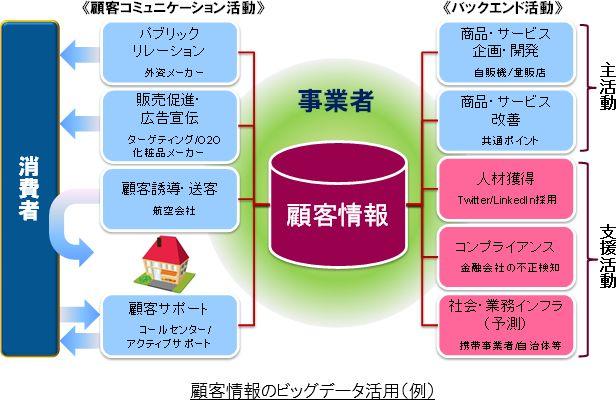 顧客情報のビッグデータ活用(例)